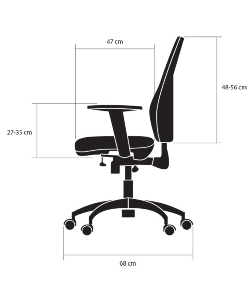 wymiary bok krzesła Business kulik system
