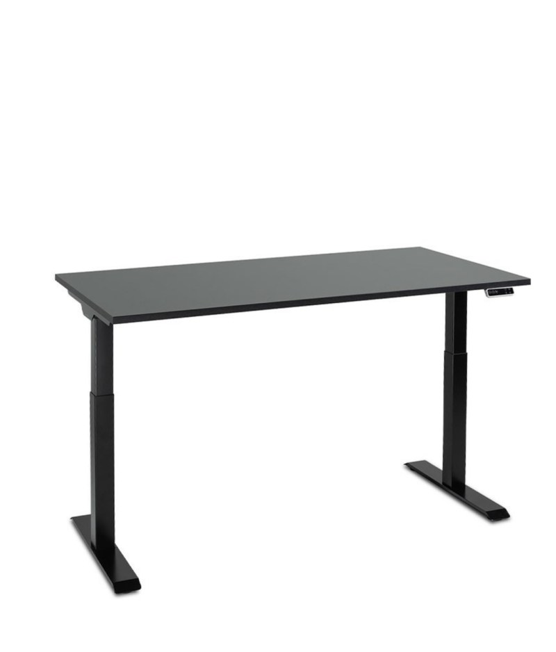 Biurko czarne podnoszone elektrycznie z regulowanÄ… wysokoÅ›ciÄ… do pracy stojÄ…cej, Comfort ZB-200