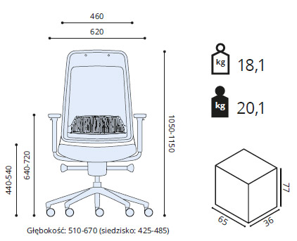 fotel ergonomiczny wymiary