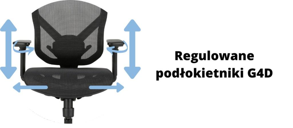 ergonomiczne krzesło biurowe Zhuo Sulaco - regulacja podłokietników