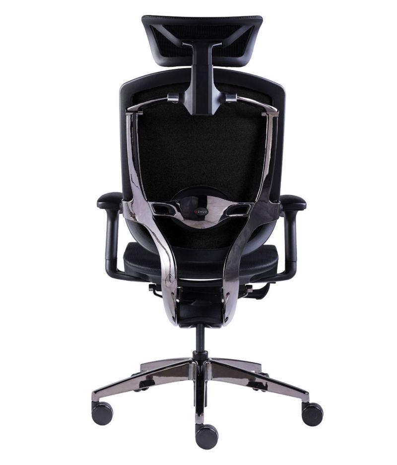 Fotel biurowy ergonomiczny Zhuo Maven - chrom czarny