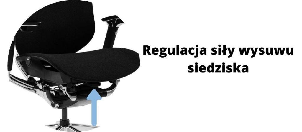 Fotel ergonomiczny Zhuo Challenger dla programisty, regulacja siedziska