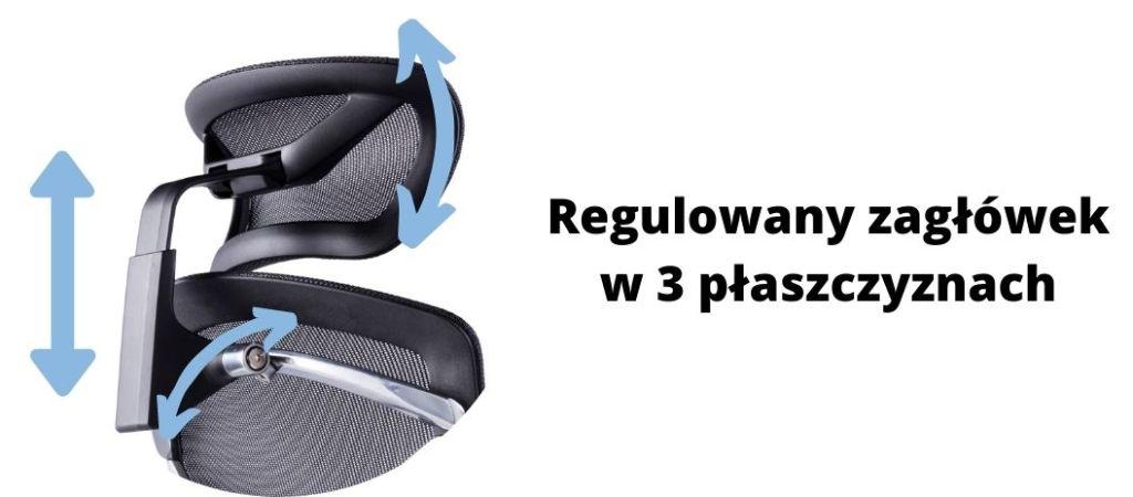 Fotel ergonomiczny Zhuo Challenger dla programisty, Fotel ergonomiczny Zhuo Challenger dla programisty, regulowany zagłówek