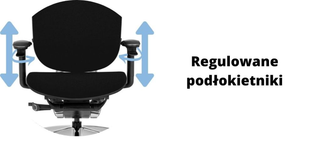 fotel biurowy ergonomiczny Zhuo Maven, podłokietniki regulacja