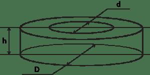 Чертеж трубы или кольца