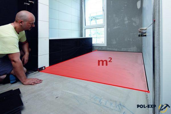 Cómo calcular metros cuadrados del piso.