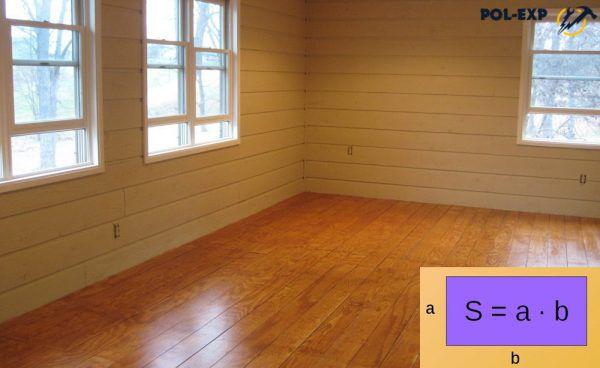 Medir el piso rectangular