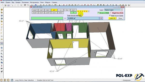Ejemplo de uso del programa SketchUp