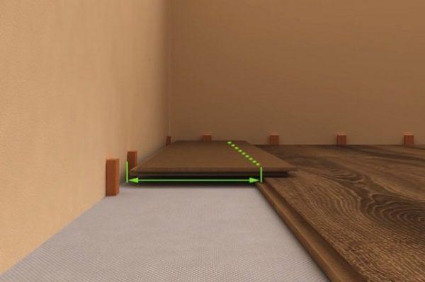 Ακριβώς κατά μήκος της άκρης της επιφάνειας εργασίας της προηγούμενης εγκατάστασης, εφαρμόζεται η γραμμή κοπής
