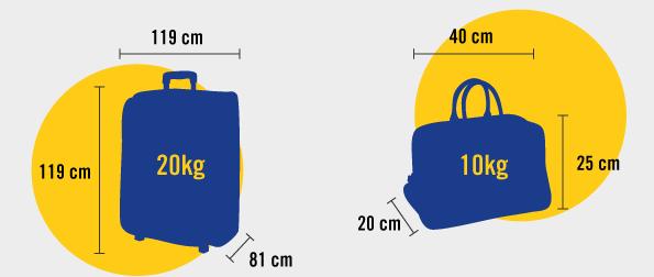 Rozmiar i waga bagażu