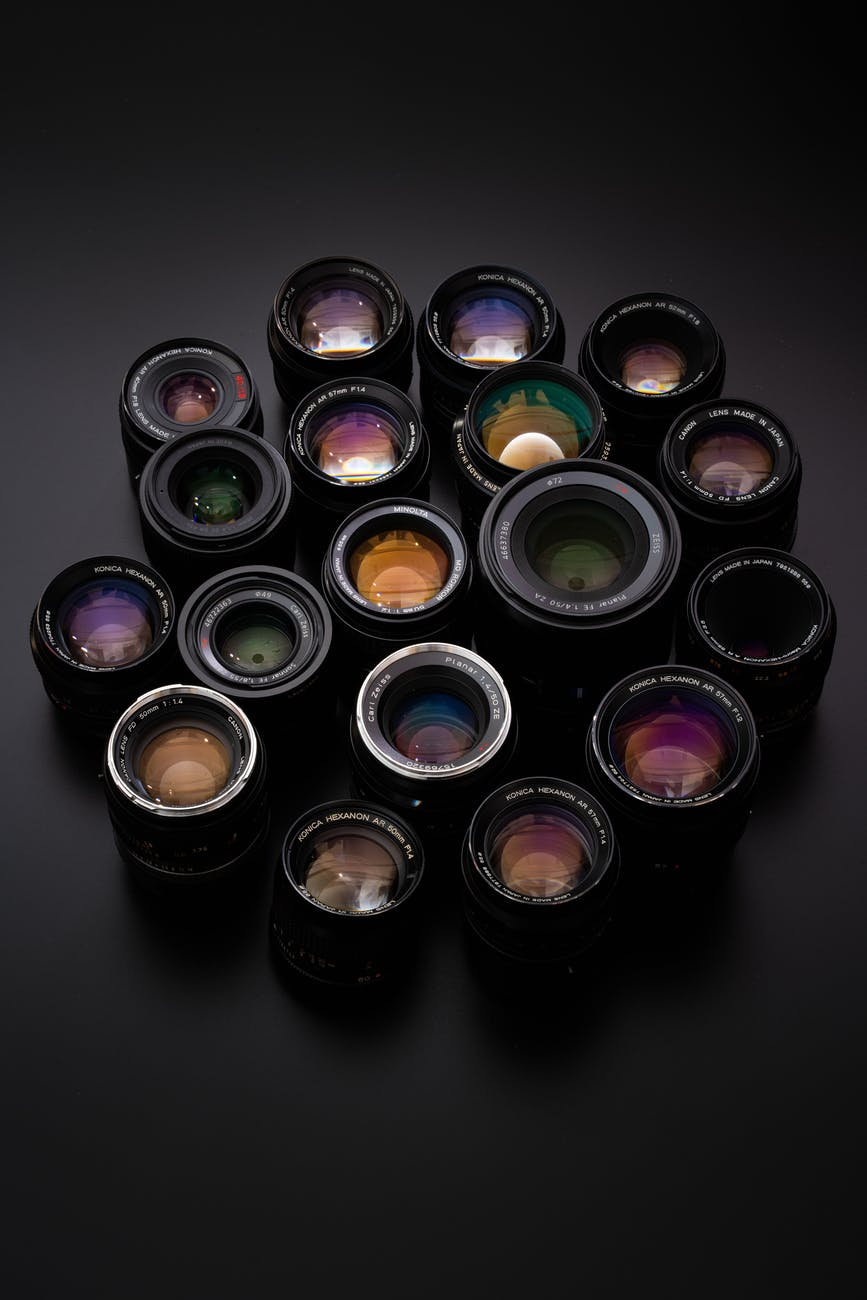 different kinds of camera lens