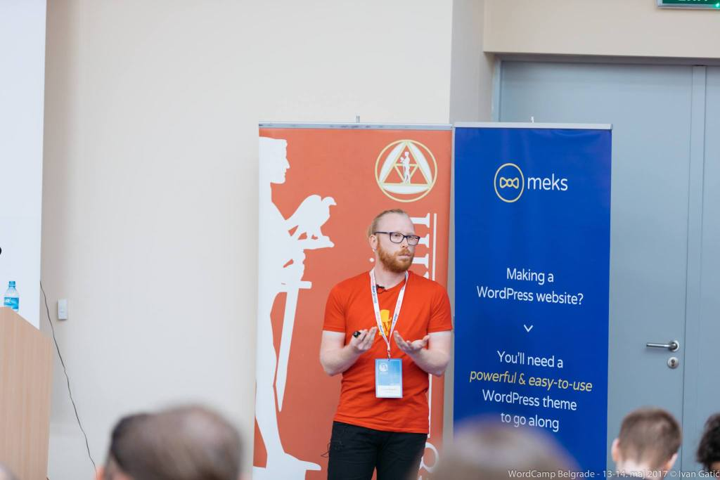 Speaking at WordCamp Belgrade 2017.