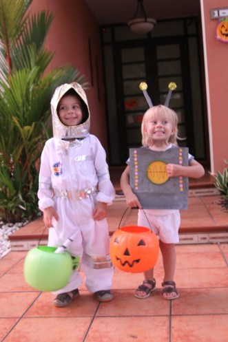 My astronaut and robot
