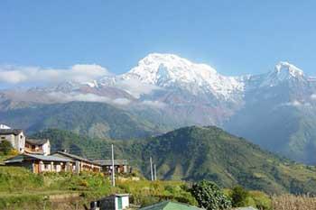 Dhampus peak Tukuche Peak Dhaulagiri range Dhampus pass Himalayas