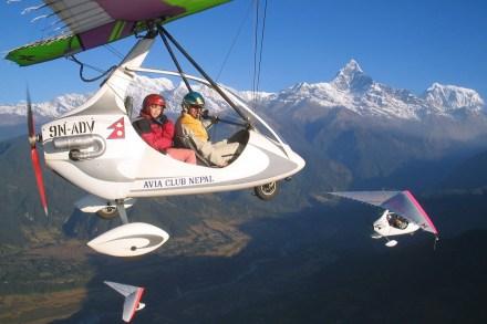 ultralight pokhara,Fishtail peak, Annapurna range,fishtail Himal