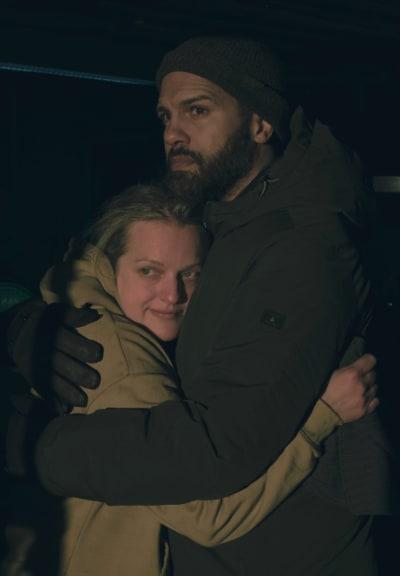 June and Luke hug - The Handmaid's Tale Season 4 Episode 6