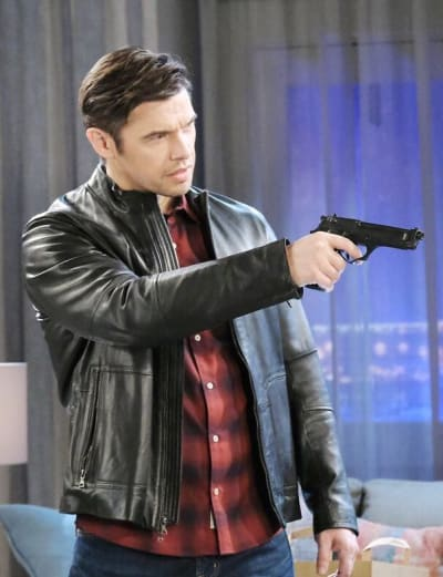 Xander Threatens Sami / Tall - Days of Our Lives