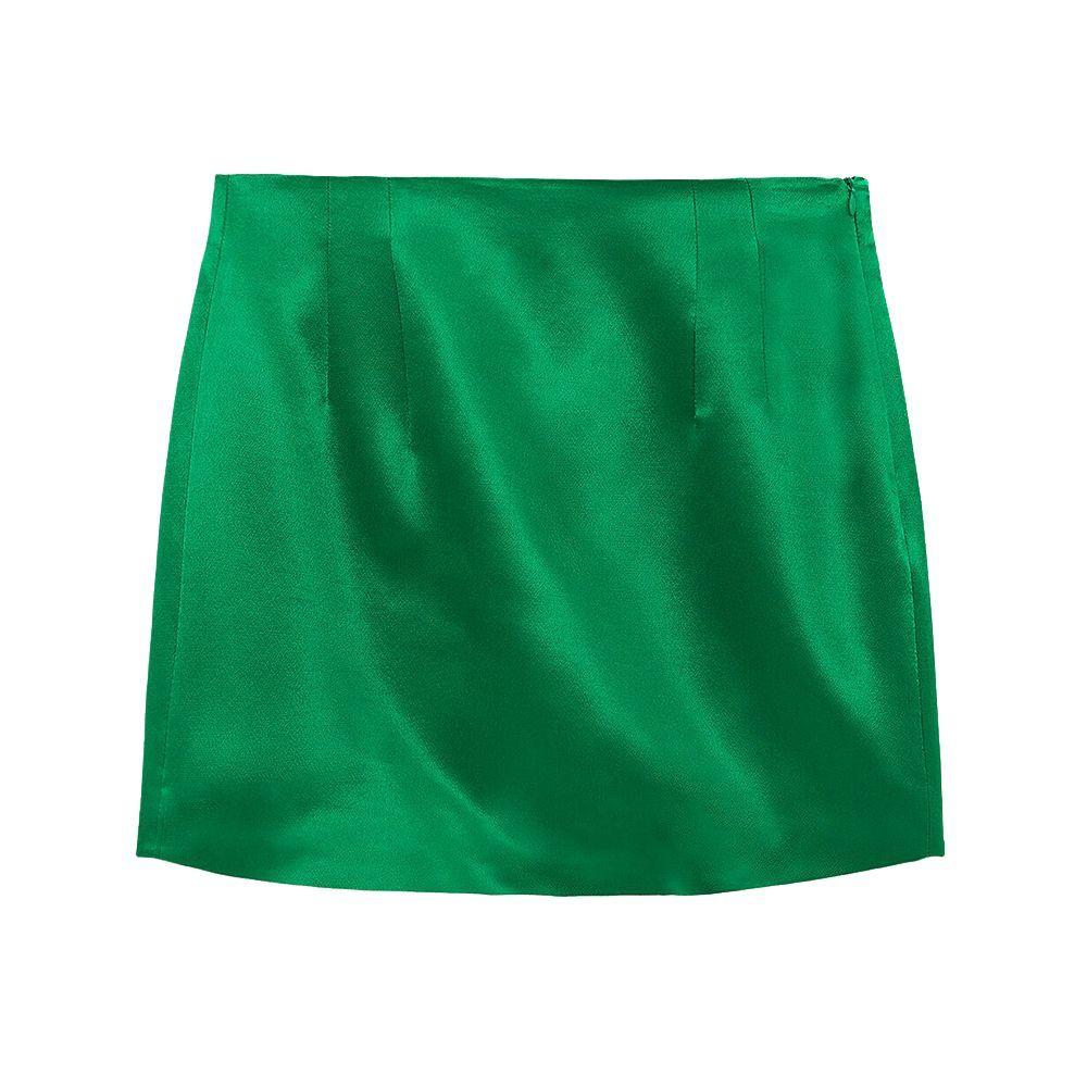 Satin Effect Mini Skirt