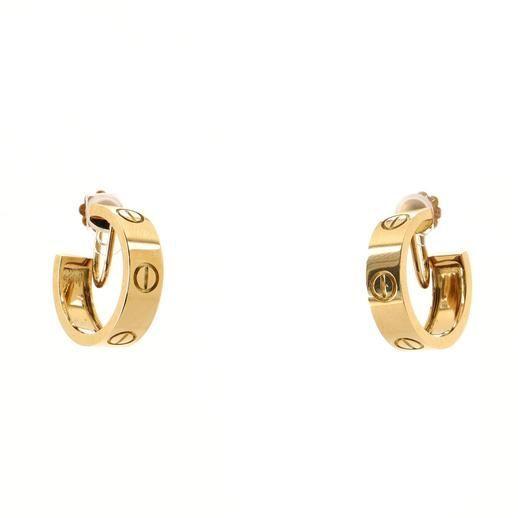 Cartier Love Hoop Earrings