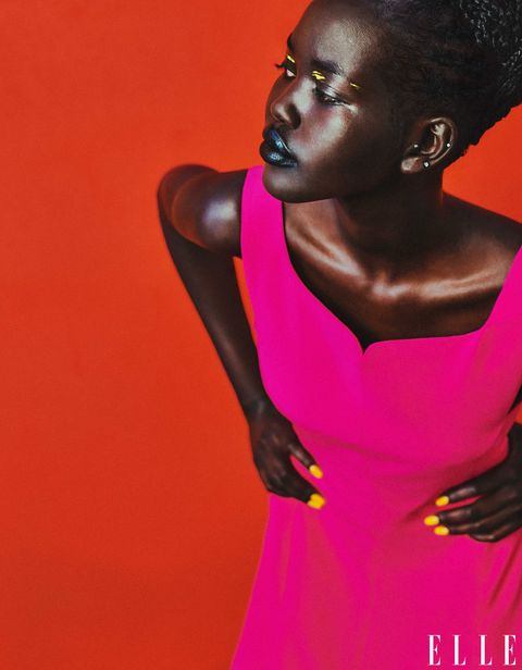 adut takech in versace