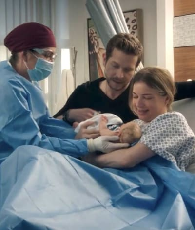 CoNic and their Baby- tall - The Resident Season 4 Episode 14