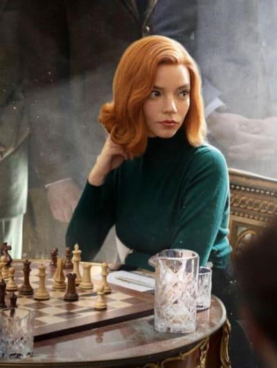 Anya Taylor-Joy on Queen's Gambit