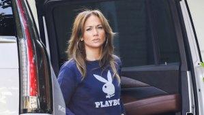 Jennifer Lopez Playboy twins max emme backgrid ftr