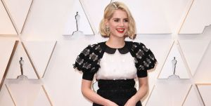 british actress lucy boynton arrives for the 92nd oscars at news photo 1633974678