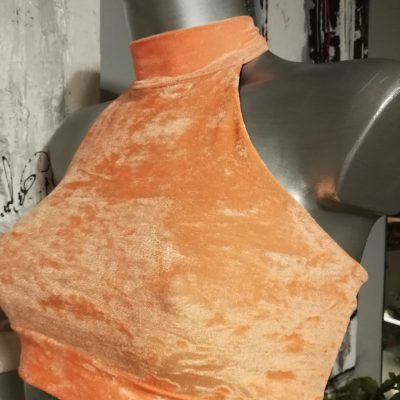 Athéna velour orange soldes