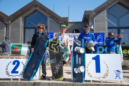 Champion de France et Vice-Champion de France FFVL Kitesurf combiné Lycées