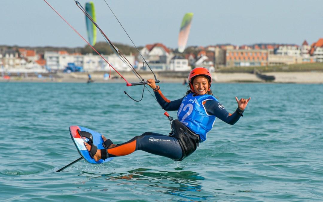 Anaïs Maï DESJARDINS vice championne de France FFV de Kitefoil
