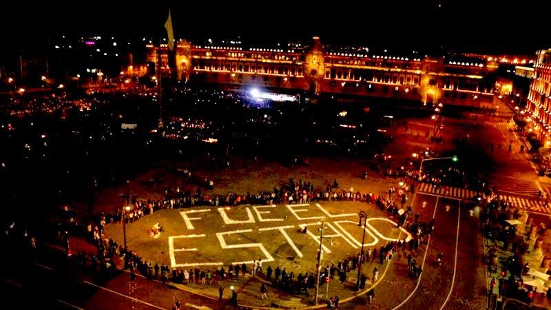"""Detalle de una manifestación en la Ciudad de México: """"Fue el estado""""."""
