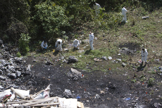 Lugar donde supuestamente el crimen organizado cremó a los 43 estudiantes desaparecidos en Iguala.