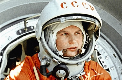 "En la imagen, la astronauta rusa Valentina Tereshkova, a la cual se le conoce también como ""La Gaviota"""