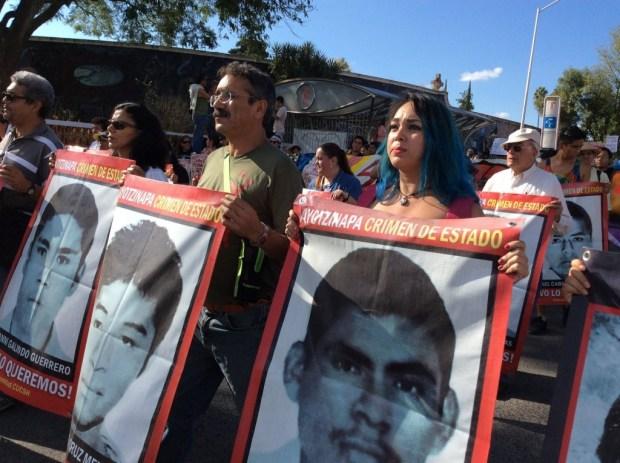 Manifestación por Ayotzinapa. Foto: Comunidad CUCSH