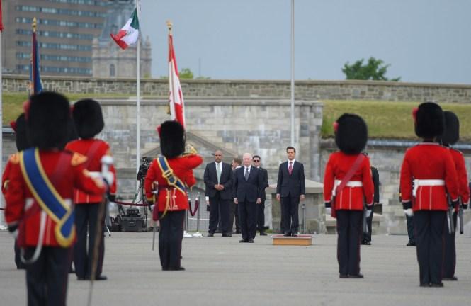 Enrique Peña Nieto de gira en Canadá. Foto: Presidencia de la República.