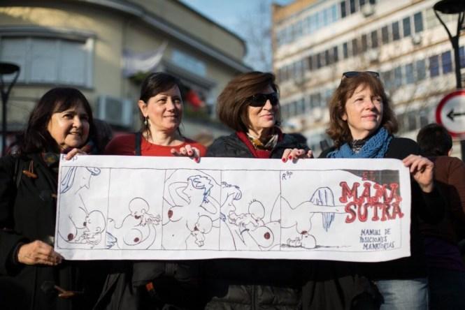 PiqueTetazo contra el machismo y la violencia policial. Foto: Nacho Yuchark/lavaca