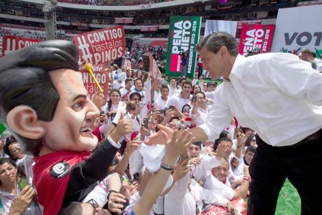 Enrique Peña Nieto en un acto de campaña en 2012. Foto: PRI