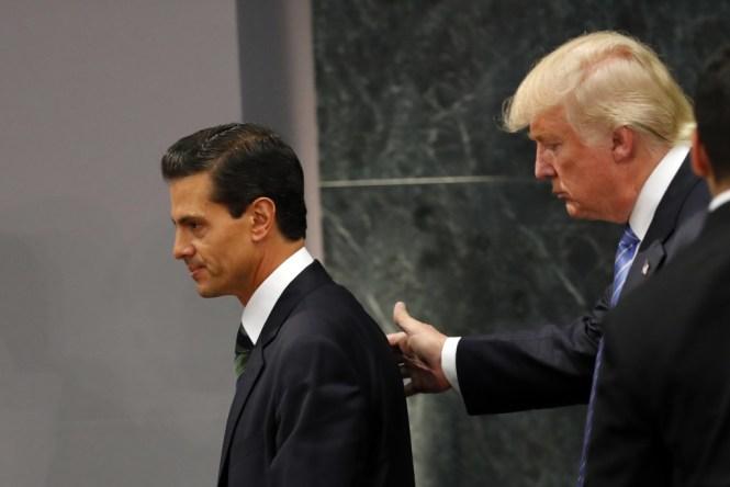 Enrique Peña Nieto y Donald Trump. Foto: Especial