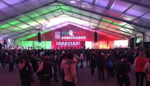 """Alfredo Del Mazo celebra """"triunfo"""" en evento semivacío"""