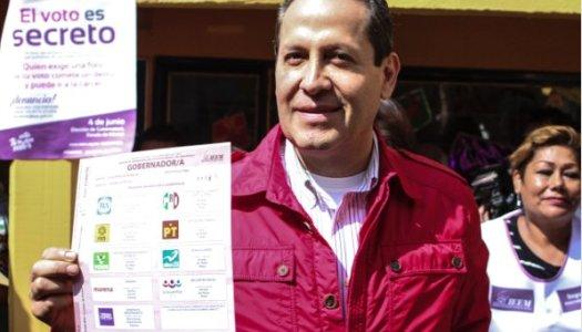 Eruviel vota en Ecatepec… lo increpan por violencia y feminicidios