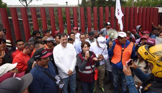 Contra fraude electoral, Delfina Gómez instala plantón en San Lázaro