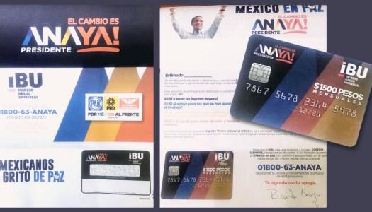 Piden datos personales a cambio de tarjeta de Ricardo Anaya