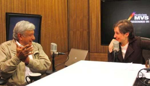 AMLO buscará que Carmen Aristegui regrese a la radio