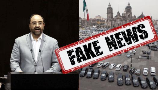 Álvarez Icaza difunde foto falsa del Zócalo para lanzarse contra Morena