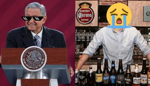 La noticia que puso contento a AMLO y muy triste a la cervecería Corona