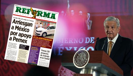 """AMLO fortalece a Pemex; Reforma lo critica porque """"arriesga al país"""""""