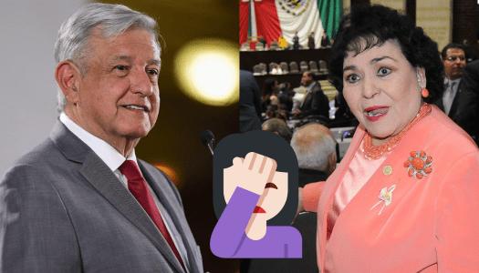 """Carmen Salinas hace el ridículo: critica a AMLO porque no hay medicinas para el """"VHS"""""""