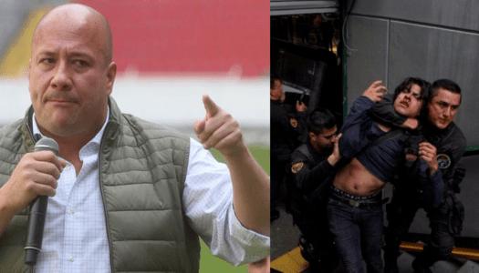 """Alfaro reprimió a jóvenes y ahora los amenaza: """"los tenemos identificados"""""""
