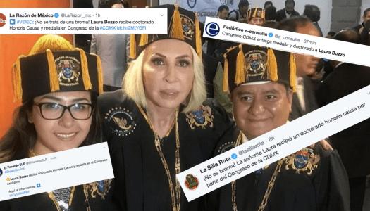 Medios arman fake news sobre supuesto honoris causa del Congreso CDMX a Laura Bozzo